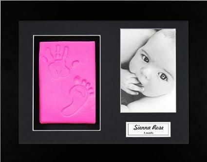 Anika-Baby BabyRice - Kit para cuadro con huellas de pies y manos de ...