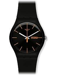 Swatch Men's Originals SUOB704 Black Rubber Swiss Quartz Watch