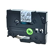 SuperInk 1 PK Compatible Black on Clear TZ121 TZ-121 TZE121 TZE 121 Label Tape For Brother P-Touch GL-100 PT200