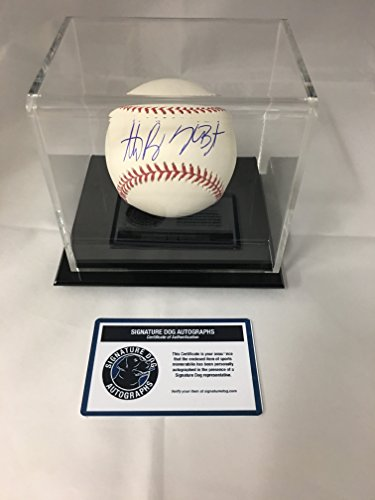 Kris Bryant & Anthony RIzzo Dual Autographed Signed Chicago Cubs MLB Baseball With Display Case Included COA & Hologram from Signature Dog Autographs