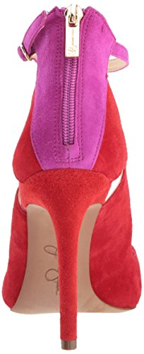 free shipping sale online limited edition cheap online Jessica Simpson Women's Liviana Pump Red Mousse Combo outlet visit new 2ikLKI5