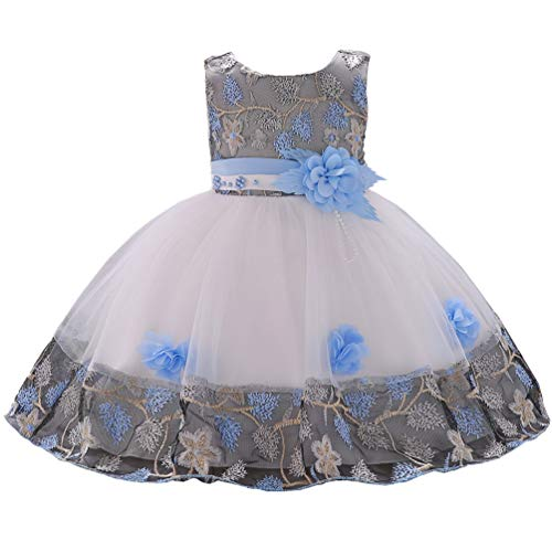 1 Year Old Blue Vintage African Summer Formal Dresses for Girls 6-12 Months 9M Easter Christmas Floral A Line Baby Girl Toddler Dress 12M -