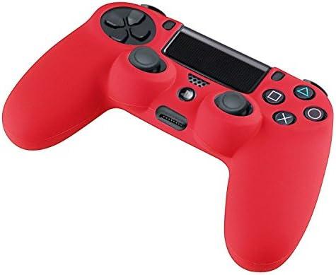 DOTBUY PS4 Controller Funda Siliconas Protector Protectora Mando de PlayStation 4 PS4 Slim PS4 Pro Game Cubierta de de 1 Colores con 1 Pares de Agarres Pulgar (Rojo): Amazon.es: Electrónica