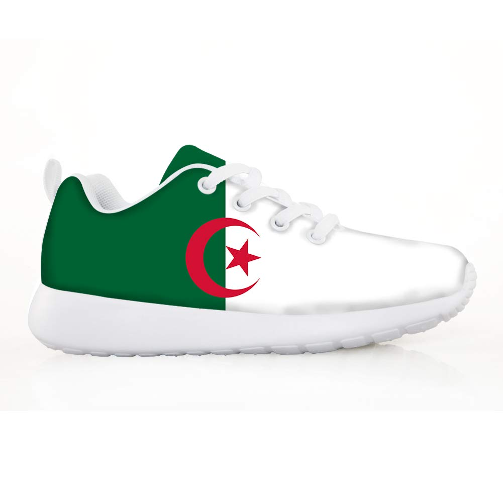 Owaheson Boys Girls Casual Lace-up Sneakers Running Shoes Algeria Flag