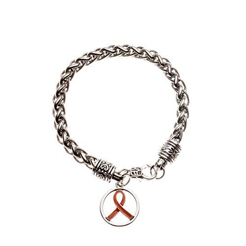 Infinity Collection Orange Ribbon Bracelet, Leukemia Awareness, MS Awareness, Self Injury, Kidney Cancer, ADHD, Awareness -