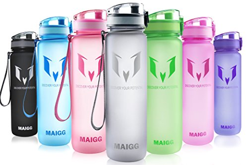 MAIGG Best Sports Water Bottle - 32oz- Eco Friendly & BPA-Free Plastic...