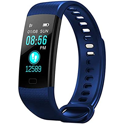 DMMDHR Smart Band Heart Rate Blood Pressure Monitor High Brightness Colorful Screen Smart Bracelet Wristband Notification Estimated Price £52.46 -