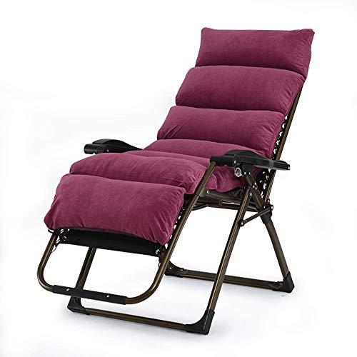 MJY Silla reclinable Zero Gravity con reposacabezas acolchado acolchado, tumbona plegable para acampar al aire libre Garden Beach, tumbona reclinable sala/D