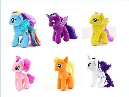 059eb90636c Ty-tek Friendship Magic 6 Inch Beanie Babies Collection - Plush Doll 6  Pieces Doll