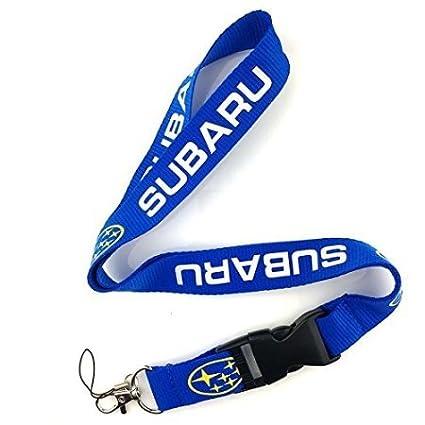 SUBARU Keychain Lanyard Blue with Yellow Logo