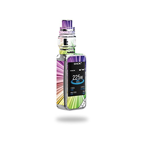 MightySkins Skin Compatible with SMOK X-Priv 225W - Rainbow Explosion | Protective, Durable, and Unique Vinyl Decal wrap Cover | Easy to Apply, Remove, and Change Styles | Made in The USA