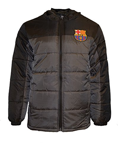 Fc Barcelona Jacket Youth Soccer Light Down Padded Zip up Hoodie (YS)