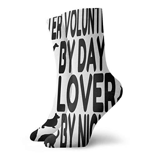 (YIEOFH Dog Lover Shelter Volunteer Novelty Boys Girls Fashion Cute Funny Casual Art Crew Socks)