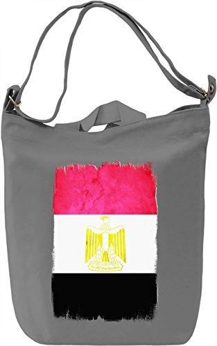 Egypt Flag Borsa Giornaliera Canvas Canvas Day Bag| 100% Premium Cotton Canvas| DTG Printing|