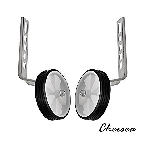 Cheesea 2pcs Stainless Steel 10'' - 20'' Universal Kids Training Wheels Stabiliser, Silver by Cheesea
