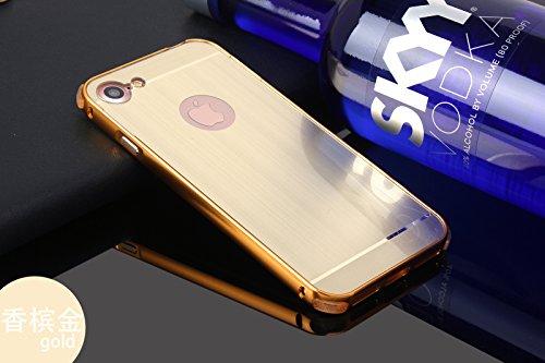 """Meimeiwu PC + Metall Dual-Werkstoff Telefon Rüstung Bumper Protictive Case hülle/tasche/Schutzhülle für iPhone 7 4.7"""" - Gold"""