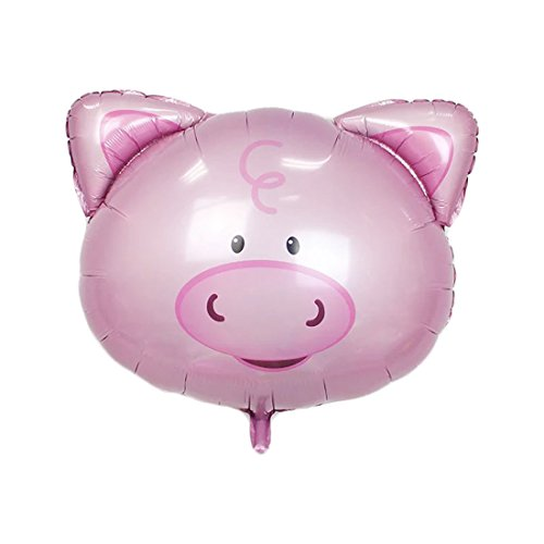 Birthday Pig - uxcell Foil Pig Design Inflation Helium Balloon Birthday Festival Celebration Anniversary Ornament 8 Inch