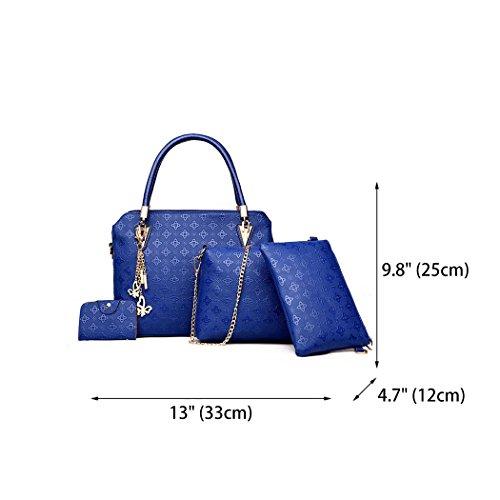 Leather Hobos Tote Bag Shoulder Handle Crossbody Satchel Handbags PU Bag Women's Blue Bags Top T7wg7qx