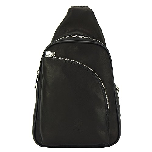Calf 6123 Gerardo Handle Leather Genuine Single Backpack Crafted Black In qOYw8