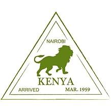 "Kenya Nairobi Lion Travel Stamp Bumper Sticker Decal 5""x 5"""