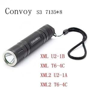 Convoy S3 7135*8 3/5-Modes 2Groups LED Flashlight 18650 --- Design:XML2 T6-4C (+£1.85)