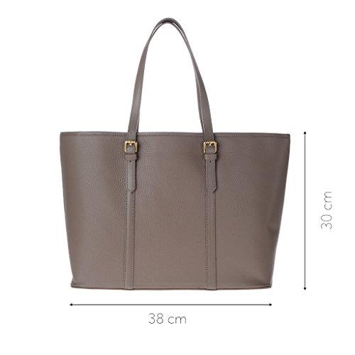 mujer Cuero marrón compact 589 para DuDu Marrón hombro 1305 al 85 Bolso de zyy06FH