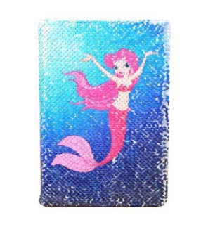 Sequin Notebook - Mermaid Reversible Sequin Journal – Magic Travel Journal Notebook Gift for Adults and Kids (Mermaid)