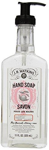 J.R. Watkins Natural Liquid Hand Soap, Grapefruit, 11 Ounce