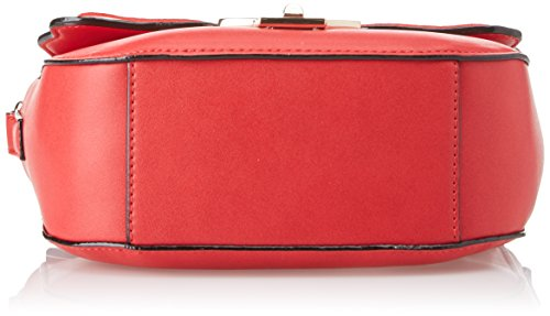 Byblos Damen Libel Emb Umhängetasche, Rot (Rosso Multi), 8x16x20 centimeters