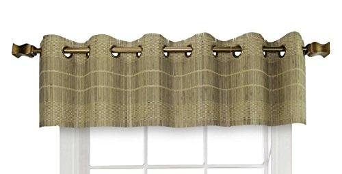 (Versailles Home Fashions BPU147212-25 Bamboo Wood Valance with Grommets, 72