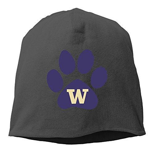 Caromn Washington Huskies Footprint Beanies Skull Ski Cap Hat Black (Tom Jones Fancy Dress Costume)