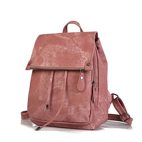 main Borsa à Pu Style Fashion Pink Zaino Preppy Sac Pelle Donna signore Stylish VHVCX Student Zaino Girls ZOBxq