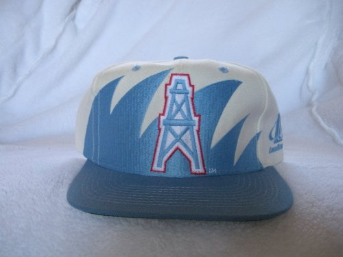 Houston Oilers Vintage Sharktooth Snapback Hats by Logo 7/Competitor