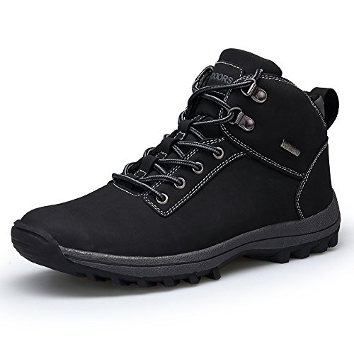 Winter Outdoor Brown YZHYXS Bean Black Men's Shoes Black Waterproof Leather Boots Hiking Xwq64BqEa
