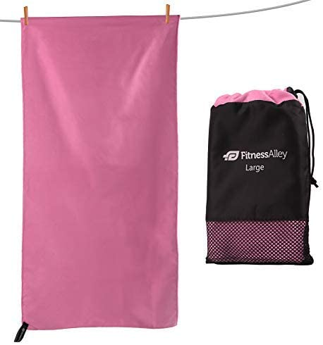 Sand Free Beach Towel Swimming Ultra Compact Travel Towel for Camping /& Backpacking Fitness Alley Microfiber Super Absorbing Fast Drying Towel Sports Towel for Gym
