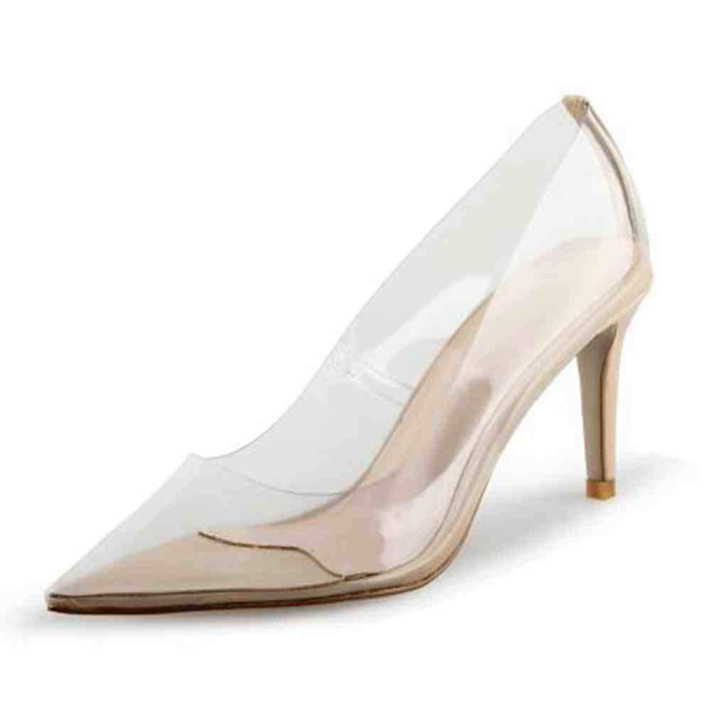 c93868127 Amazon.com | ASILETO Spring Summer Transparent Clear Thin Mid Heels Pumps  Office Shoes Black Apricot Leopard US10 | Pumps