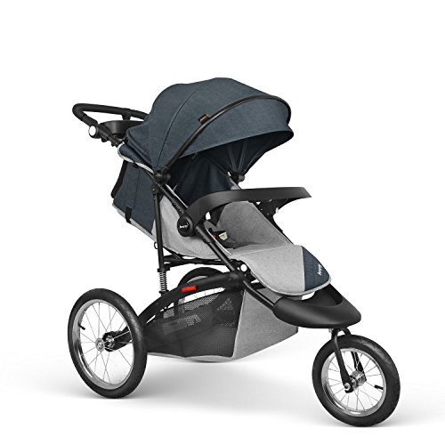 Besrey Jogger Stroller Sport Strollers Jogging Pushchair with 16 Inch Air-Filled Tire for Baby Comfort to Lie Down