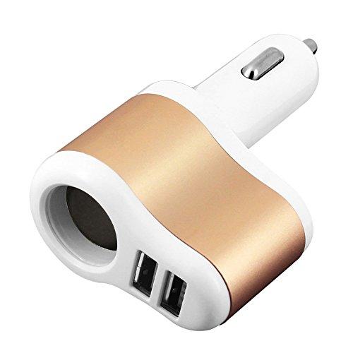 3.1A Dual 2 USB Ports One Way Car Cigarette Lighter Power Socket - 7