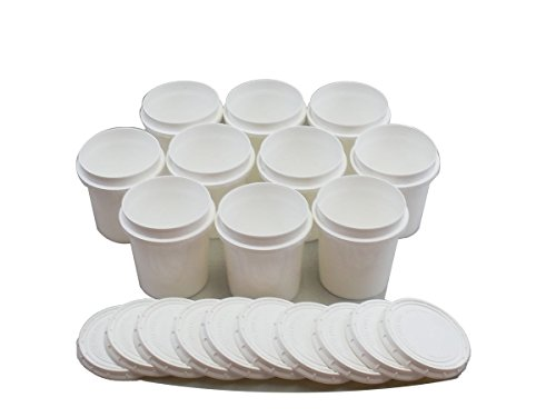 Superfos Vapor Lock HDPE Pint (16 oz) Container & Lid - Pack of 10 ()