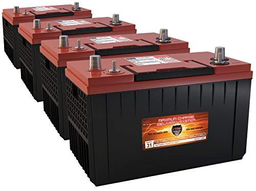 QTY4 XCA31-1400 AGM Navistar Int'l Gas Diesel Semi Truck or Bus repl Battery