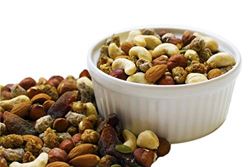 Raw Superfoods Trail Mix - Oriental Mix (Dates, Dried Apricots, White Mulberries, Almonds, Cashews, Hazelnuts and Pumpkin Seeds)