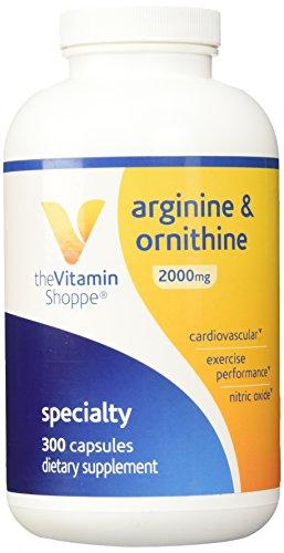 Vitamin Shoppe - L-Arginine-Ornithine (Super Strength), 2000 mg