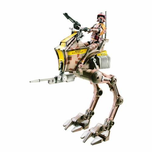Star Wars Clone Scout Walker (Star Wars Figure and Vehicle Clone Scout With AT-RT)