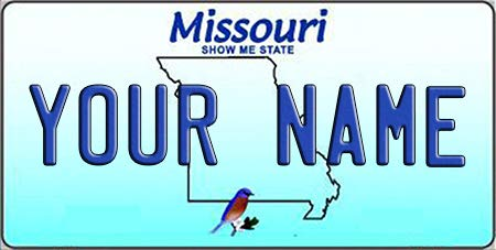 - BNS Personalized Bicycle/Toy Car/Wagon / Golf Cart License Plate Tag (Missouri)