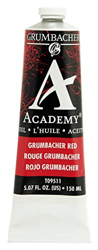 Academy Oil Color Paint - Grumbacher Academy Oil Paint, 150 ml/5.07 oz, Grumbacher Red