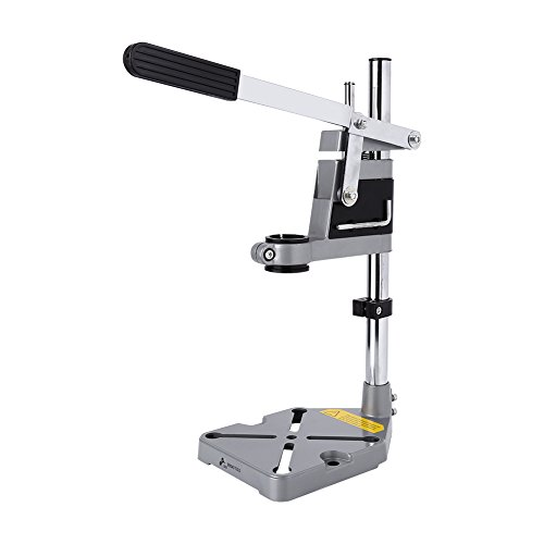 Universal Drill Press Stand, Bench Clamp Drill Stand Workbench Repair Tool for Drilling Collect Workshop Single Hole Aluminum Base