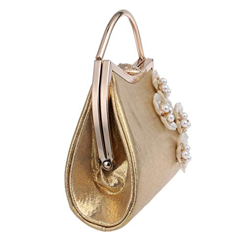 Bag Ladies Silver Clutch Evening Dress bag Fashion evening Evening Bag Gold New Banquet Flower Fly Color wnSxq4vFRS