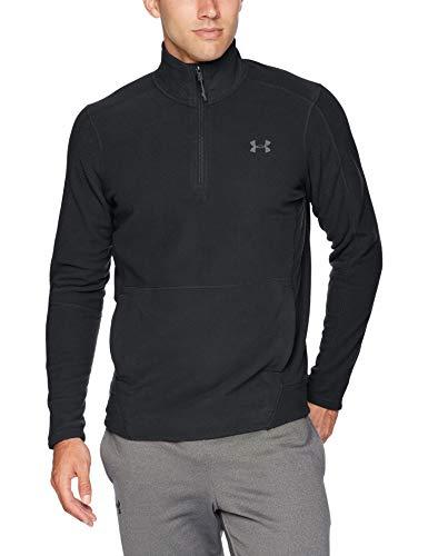 Under Armour Men's Zephyr Fleece Solid 1/4 Zip Sweat Shirt, Black (001)/Graphite, Large (Mens Under Armour Storm Fleece Pull Over Hoodie)