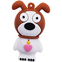 MagiDeal 128GB Cartoon Rubber Dog Hi-Speed USB 2.0 Flash Drive Memory Disk U Disk