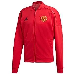 e2976ca59f4 Amazon.com   adidas 2018-2019 Man Utd Zone Anthem Jacket (Red ...